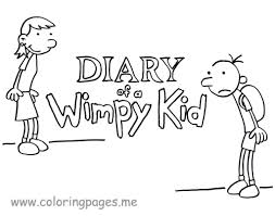 printable pictures of diary of a wimpy kid free coloring pages
