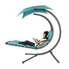 Gp Products Patio Furniture Amazon Com Best Choice Products Hanging Chaise Lounger Chair Arc