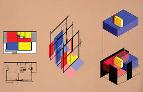 diagrams of the rietveld schroder house reveal its graphic and