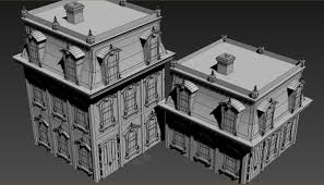 Victorian House Style Victorian Style House 3d Asset Cgtrader