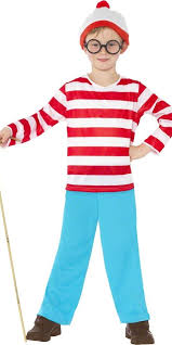 boys girls wheres wally fancy dress costume