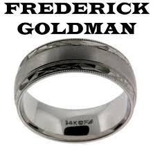 frederick goldman wedding bands frederick goldman 11 7101 g men s wedding band in 14k 2 tone gold
