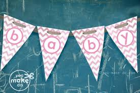 baby shower banners pink chevron baby shower banner