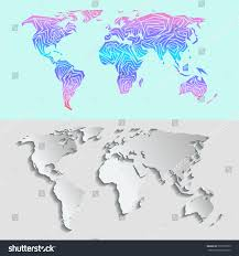maps for globe maps globe earth contour outline silhouette stock vector 737235553