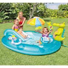 Intex Inflatable Pool Intex Gator Play Center Inflatable Kids Swimming Pool With Sprayer