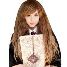 harry potter hermione hermione wig harry potter hermione granger long wavy brown costume