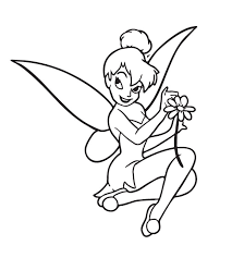 coloring sheets tinkerbell pick flower coloring