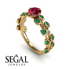 ruby engagement rings leafs all around ruby ring sydney no 16 segal jewelry