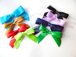 stretchy ribbon pre bows for invitations menus and packaging