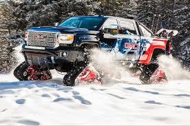 gmc sedan concept tracked gmc sierra 2500hd all mountain concept is a snow slayer