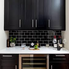 black subway tile kitchen backsplash marensky com
