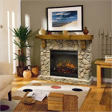 faux stone electric fireplace design home design ideas