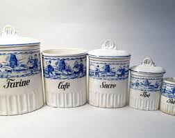 ceramic canisters for the kitchen kitchen canisters etsy
