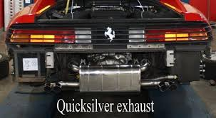 testarossa exhaust 348 supersport exhaust 1990 94 quicksilver exhausts