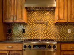 kitchen range backsplash tiles backsplash yellow and brown mosaic kitchen backsplash