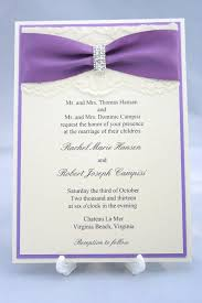 wedding invitations with ribbon items similar to purple lace wedding invitation with satin ribbon