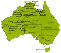 map of aus australia s best meteorite craters australian geographic