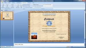powerpoint training how to make your own certificate in