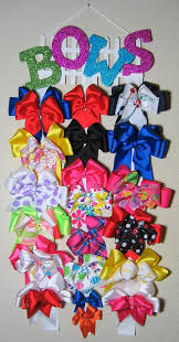 hair bow holders hair bow hanger display with glitter letters on by bonniejboutique
