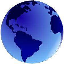 globe blue globe clip art at clker com vector clip art online royalty