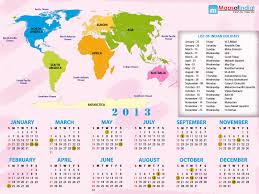 Antarctica On World Map by 2013 World Map With Calendar