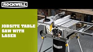 Job Site Table Saw Jobsite Table Saw With Laser Youtube