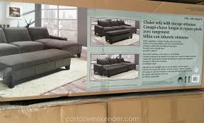 Sectional Sofas Costco chaise sectional sofa with storage ottoman costco weekender