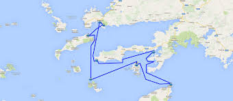 Aegean Sea Map Bodrum South Dodecanese Islands Bodrum Cabin Charter