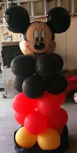 mickey mouse balloon arrangements columns column balloon decor decoration delivery balloons houston