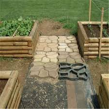 Concrete Patio Stone Molds by Diy Patio Driveway Concrete Stepping Stone Path Walk Maker Paving