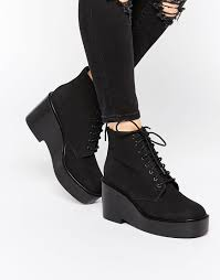 womens boots asos image 1 of asos eclipse lace up ankle boots buy non black