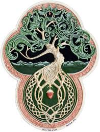 celtic tree of cast paper tree green arbor big