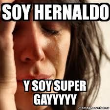 Gayyyyy Meme - meme problems soy hernaldo y soy super gayyyyy 17679285