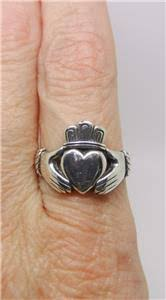avery claddagh ring avery sterling silver retired claddagh ring size 8 5