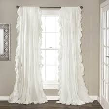 White Window Curtains Shabby Chic Curtains Drapes For Less Overstock