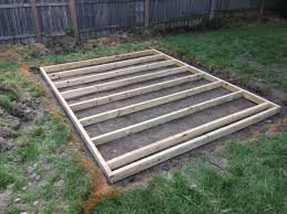 Free Plans For Building A Wood Shed by Build A Shed Floor With Pressure Treated Wood