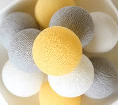 pastel yellow grey white cotton ball lights for bedroom kid u0027s