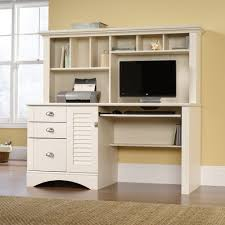 sauder harbor view bookcase with doors antique white furniture have an enjoyable computer desk with sauder computer