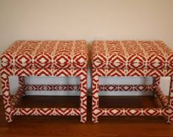 Chinese Chippendale Bench Sale Pair Upholstered Chinese Chippendale Pagoda Bench Stool
