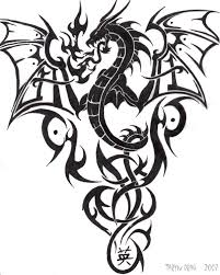 collection of 25 tribal dragon tattoo