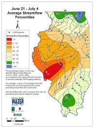 Illinois State Map Illinois Drought Streamflow Maps Illinois State Water Survey