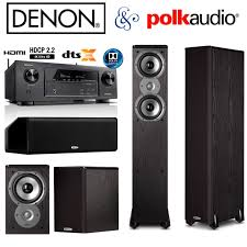 denon home theater receiver denon avr x1300w receiver bundle with polk audio 2 tsi300 2