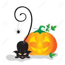cat in a pumpkin clipart collection