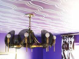 how to hang wallpaper on the ceiling hgtv
