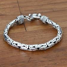 bracelet silver mens images Men 39 s sterling silver bracelet silver dragon novica jpg