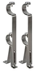 Adjustable Double Curtain Rod Brackets Levolor A7004214123 Double Curtain Rod Bracket