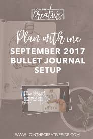 plan with september 2017 bullet journal setup join
