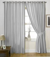 Grey Curtains 90 X 90 Charisma Faux Silk Curtains Lined Eyelet Curtains Ready Made