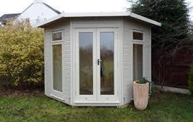 Garden Summer Houses Corner - the huntington elite pent corner insulated summerhouse garden room