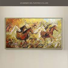online buy wholesale eight horses wall painting decorative